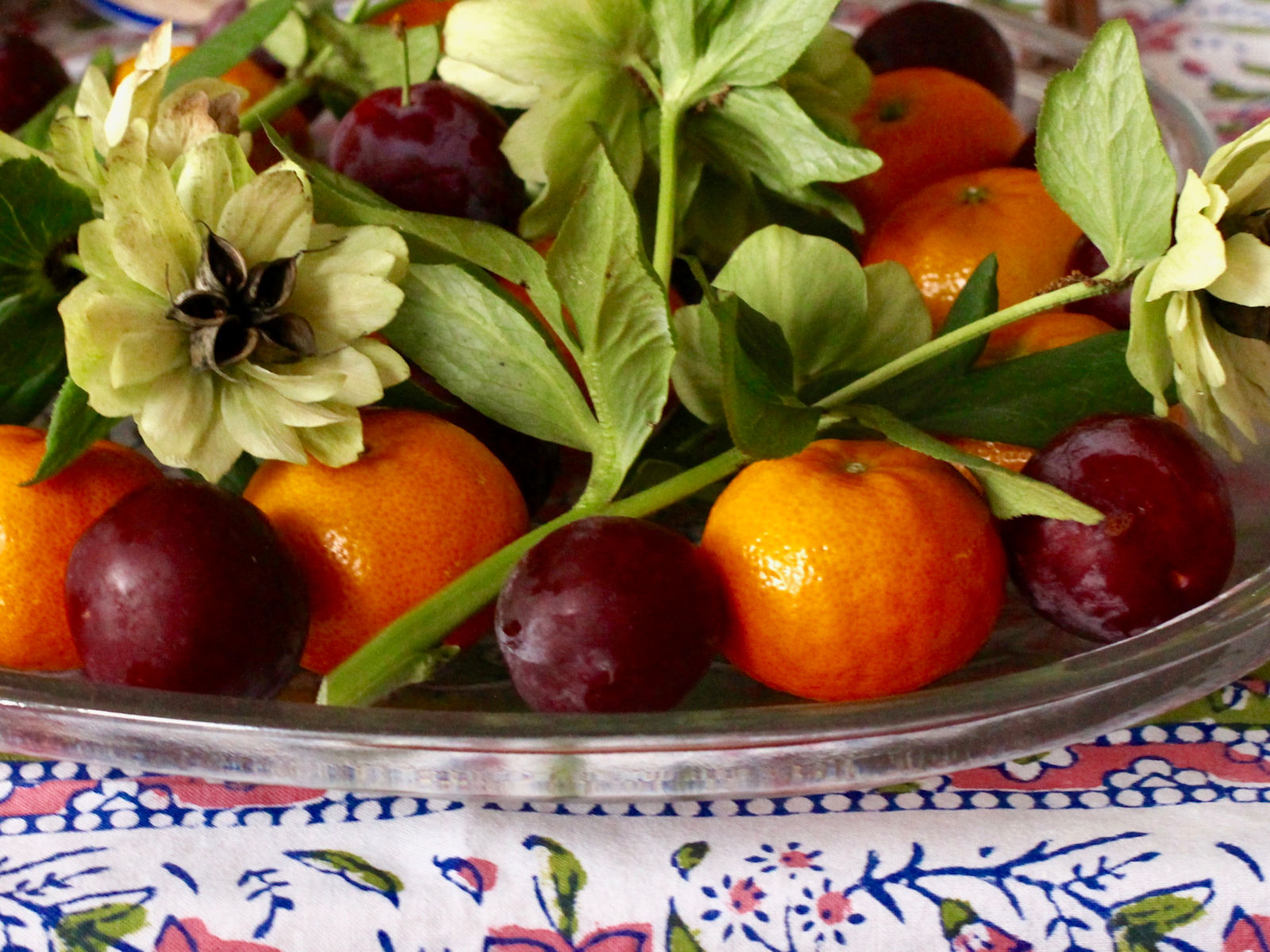 Flowers and Fruit Tray
